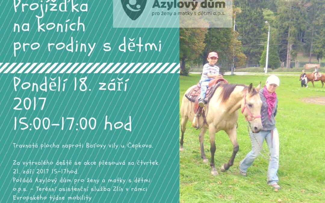 Projížďky na koních ve Zlíně